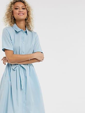 Jacqueline de Yong poplin shirt dress in blue