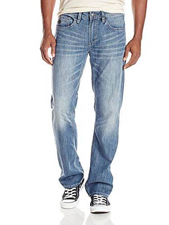 Buffalo David Bitton Mens Driven Straight Leg Jean In Lucas Blue, Slightly Marbled/Intense, 36x32