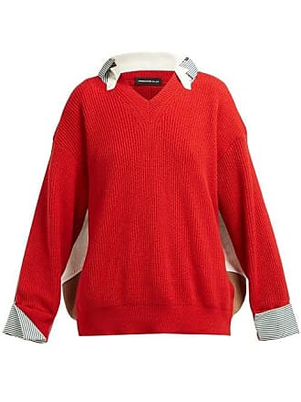 Undercover Hybrid Cotton Shirt Sweater - Womens - Red