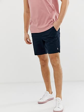 Original Penguin Marineblaue, elastische Chino-Shorts in schlanker Passform-Navy