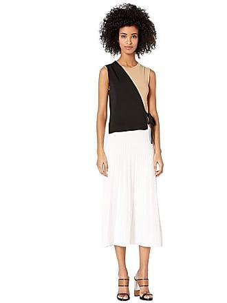 Yigal AzrouËl Color Blocked Wrap Dress (Jet/Optic Multi) Womens Dress