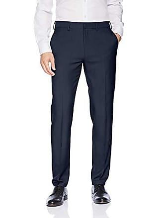 Haggar Mens Premium Comfort Stretch Slim Fit Dress Pant, Blue, 36Wx30L