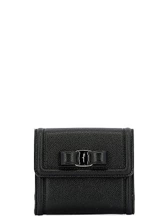 18231d0c1e Salvatore Ferragamo WOMENS 673755 BLACK LEATHER WALLET