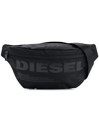 Diesel logo print belt bag - Black