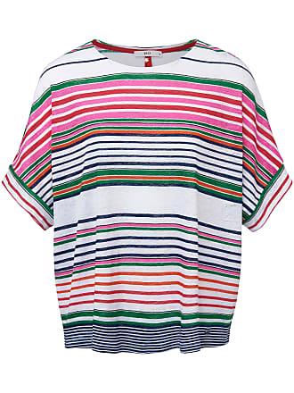 c2a0eab79f0008 Brax Rundhals-Shirt aus 100% Leinen Brax Feel Good mehrfarbig
