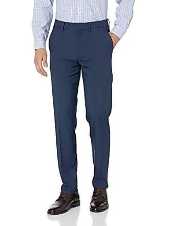 Perry Ellis Mens Standard Linen Suit Pant, Navy-4ESB4317 32W X 32L