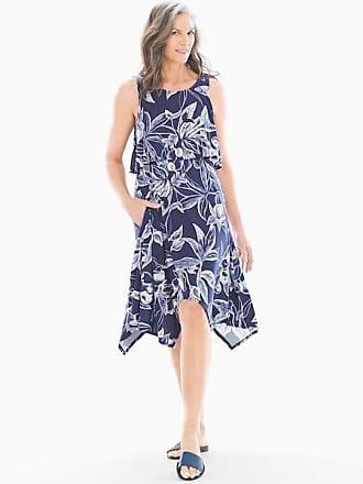 Soma Sleeveless Layered Dress Laguna Lines Navy, Size XS