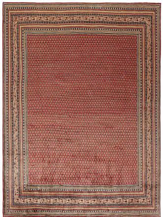 Nain Trading 366x271 Tappeto Fatto A Mano Saruk Mir Boteh Marrone Scuro/Viola (Lana, Persia/Iran)