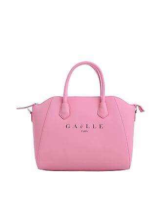 ca6f1875e5 Gaëlle Paris Borsa a mano rosa con logo Gaelle Paris nero