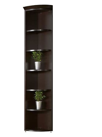 Unique Furniture Wood Corner Bookcase - 834-ESP
