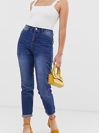 Urban Bliss Mom jeans a vita alta-Blu
