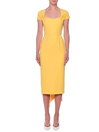 dc6ef07914da Stella McCartney Scarf-Back Cap-Sleeve Midi Sheath Ponte Dress