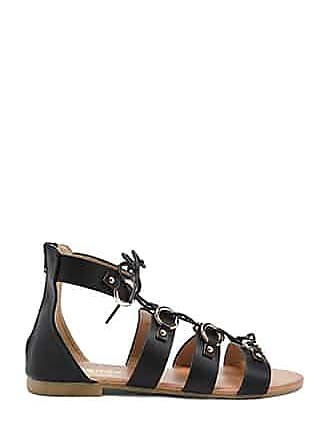 Forever 21 Forever 21 Faux Leather Gladiator Sandals Black