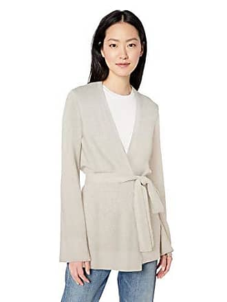 Daily Ritual Womens Long-Line Open-Front Cardigan Sweater, Pale Heather, Medium