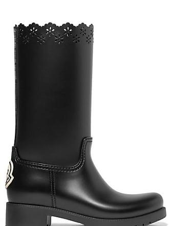 Moncler + Simone Rocha Laser-cut Rubber Boots - Black