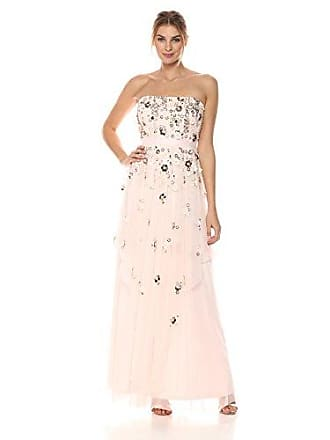 Aidan Mattox Womens Strapless Tiered Ball Gown, Pink Blush, 0