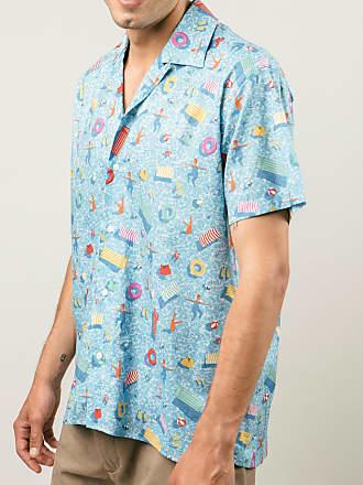 Brava Fabrics Mens Shirt - Mens Casual Shirt - Mens Shirt - 100% Cotton - Model Swimming Pool