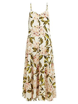 Mara Hoffman Diana Floral Print Poplin Midi Dress - Womens - Cream