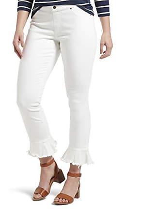 Hue Womens Fashion Denim Jean Skimmer Leggings, Tulip Flare Hem/White, XS