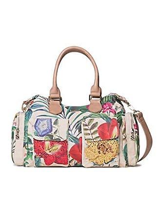 9034bc41a73ed Desigual Bag Clio London Women, Sacs portés épaule femme, Blanc (Crudo),