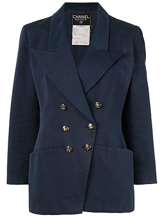 Chanel CC logos long sleeve jacket - Blue