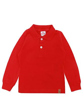 Brandili Camiseta Polo Brandili Menino Liso Vermelha