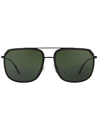 Dolce & Gabbana Eyewear Óculos de sol oversized - Metálico