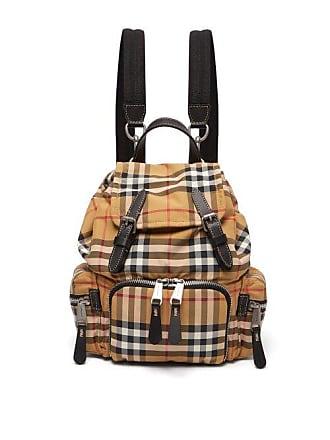 04b8c00892e Burberry Vintage Check Mini Canvas Backpack - Womens - Brown Multi