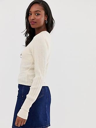 9e0dd7150fa Asos Tall ASOS DESIGN Tall rib knit jumper in natural look yarn - Stone