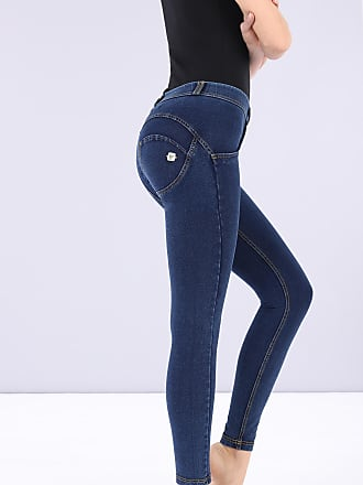 Freddy WR.UP regular-rise super skinny ankle-length trousers in dark denim-effect jersey