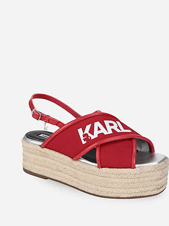Karl Lagerfeld KARL X-STRAP PLATFORM ESPADRILLES