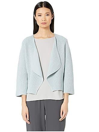 Eileen Fisher V-Neck Bell Sleeve Cardigan Organic Cotton (Cornflower) Womens Clothing