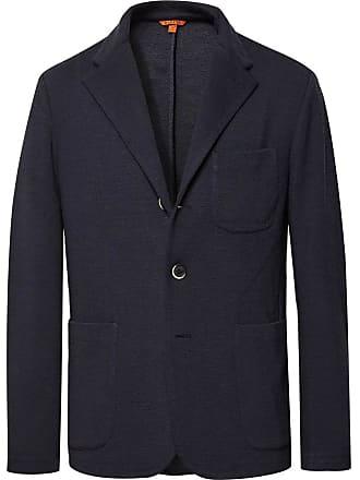 Barena Midnight-blue Mesola Slim-fit Unstructured Knitted Blazer - Midnight  blue 751549a2488c3