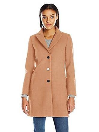 A|X Armani Exchange Womens Long Lapel Coat, Camel Tan, Large