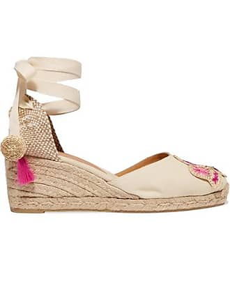 524fb3da9af Castaner + Mercedes Salazar Carina 60 Embroidered Canvas Wedge Espadrilles  - Neutral