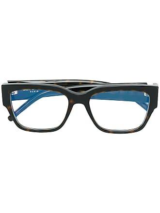 Saint Laurent Eyewear Armação de óculos quadrado - Marrom