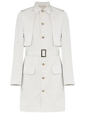 Rick Owens Trench coat com abotoamento simples - Cinza