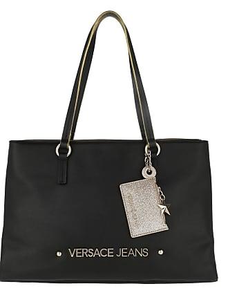 c54ed53ad73 Versace Jeans Couture Logo Shopping Bag Black Tassen met handvat zwart