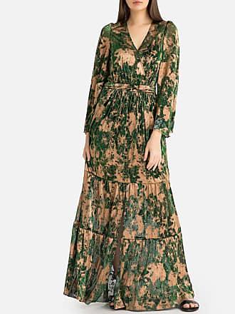 b3b768ca8f09b8 BA SH Lange jurk in voile met glanzende print VIANCA
