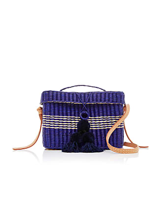 NANNACAY MO Exclusive Medium Roge Straw Tote With Pompoms and Strap