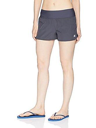 ZeroXposur Womens Swim Hipster Short with Brief, Slate, 16