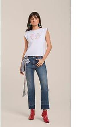 Lebôh Calça Straight Cos Intermediario Barra Desmanchada Jeans 40