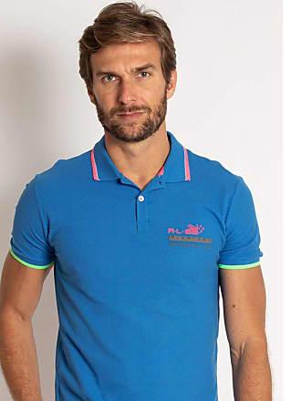 Aleatory Camisa Polo Aleatory Piquet Neon Azul-Azul-M