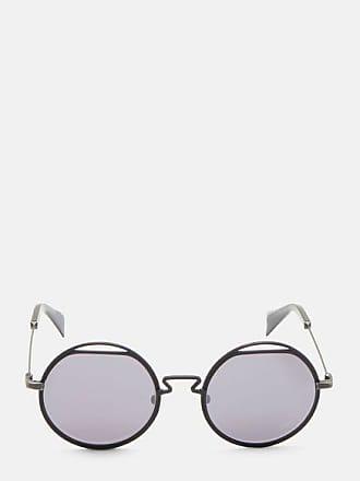 b22347b9be02 Yohji Yamamoto YY7012 Round Cut-Out Titanium Sunglasses