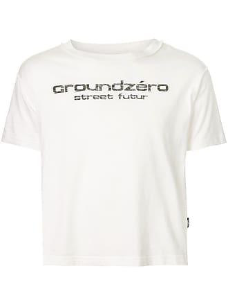 Ground-Zero logo print T-shirt - Branco