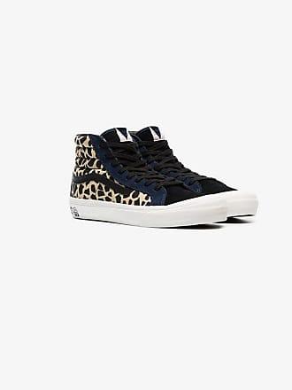 Vans brown Vault leopard print cotton high top sneakers