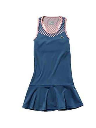 Lacoste Womens Technical Jersey Tennis Tank Dress, NEOTTIA/Bagatelle Pink, 4