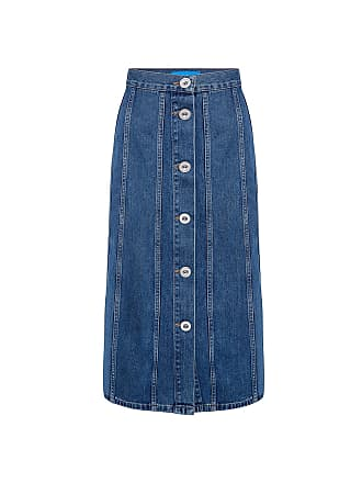 Mih Jeans Simone denim Midi skirt Bt Blue Tru