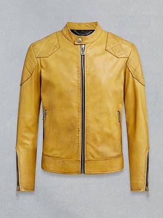 e0363ca85475 Belstaff Belstaff Outlaw Leather Jacket Yellow UK 36