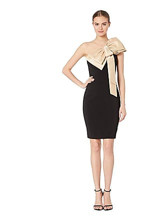 accc3c68 Badgley Mischka Bow Combo Sheath Dress (Black/Champagne) Womens Dress